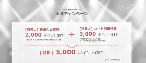 YOSHIKIの楽天カード入会キャンペーンは?
