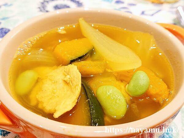 鶏肉とかぼちゃのカレースープ